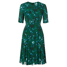 Buy Jigsaw Misty Garden Silk Blend Dress, Green Online at johnlewis.com