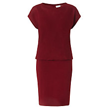 Buy Jigsaw Textured Knitted Dress, Dark Red Online at johnlewis.com