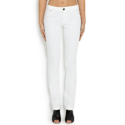 DL1961 Coco Curvy Straight Leg Jeans, Milk
