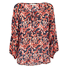 Buy Joie Leala Printed Silk Blouse, Dark Navy Online at johnlewis.com