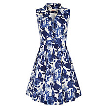 Buy Louche Elisha Floral Print Dress, Blue Online at johnlewis.com