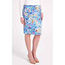 Buy Louche Floral Print Skirt, Blue Online at johnlewis.com