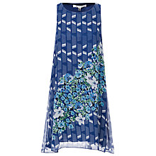 Buy Max Studio Print Border Dress, Navy/Dusty Pink Paper Basket Online at johnlewis.com