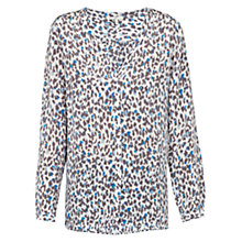 Buy Joie Michi Painterly Animal Printed Silk Top, Marine Online at johnlewis.com