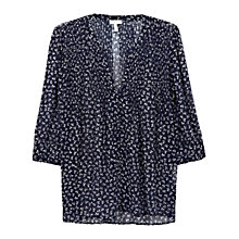 Buy Joie Laurel Blouse, Dark Navy/ Porcelain Online at johnlewis.com