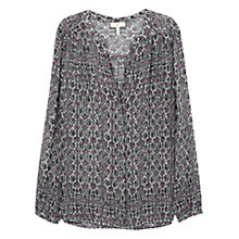 Buy Joie Vimeron Paisley Printed Crepe Georgette Silk Top, Porcelain Verbena Online at johnlewis.com