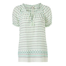 Buy Joie Masha Mini Tile Chains Printed Savory Silk Top, Court Online at johnlewis.com