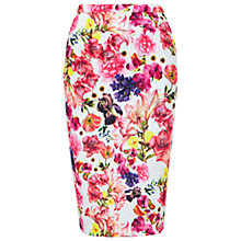 Buy Louche Floral Print Skirt, Pink Online at johnlewis.com