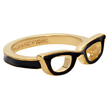 Buy kate spade new york Goreski Glasses Gold Plated Ring, Black/Gold Online at johnlewis.com