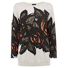 Buy Warehouse Floral Placement Jumper, Beige Online at johnlewis.com