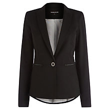 Buy Warehouse Zip Detail Blazer, Black Online at johnlewis.com