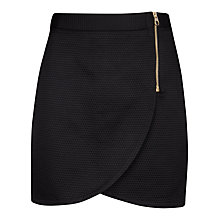 Buy Ted Baker Wrap Front Mini Skirt, Black Online at johnlewis.com