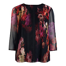 Buy Ted Baker Wolbrr Cascading Flora Pleat Top, Multi Online at johnlewis.com