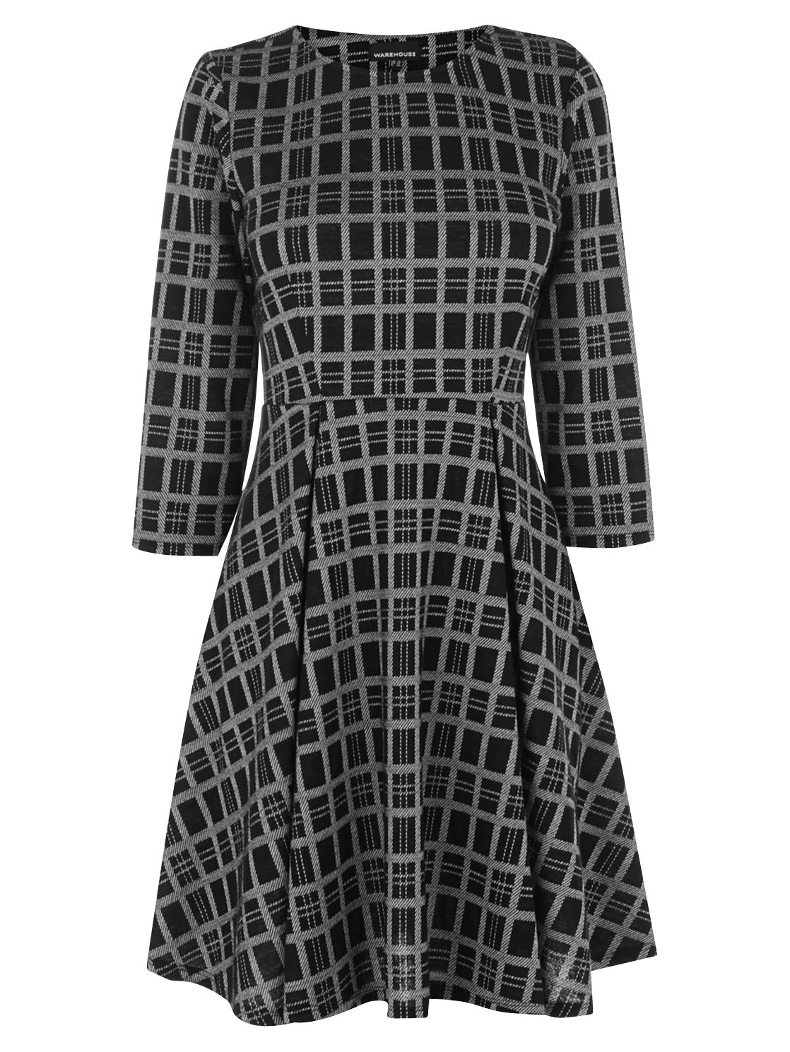 warehouse checked skater dress black, warehouse, checked, skater, dress, black, 8|10, women, womens dresses, special offers, womenswear offers, warehouse (copy), womens dresses offers, latest reductions, 1854267