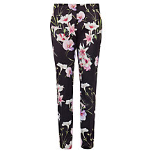 Buy Ted Baker Onixt Mirrored Tropics Trousers, Black Online at johnlewis.com