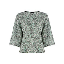 Buy Warehouse Boucle Bell-Sleeved Top, Mint Online at johnlewis.com