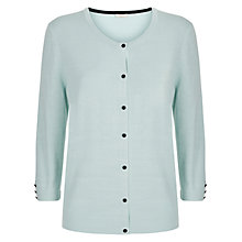 Buy Planet Button Through Cardigan, Light Green Online at johnlewis.com