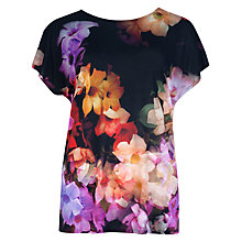 Buy Ted Baker Priddyy Cascading Flora T-shirt, Multi Online at johnlewis.com