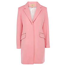 Buy Coast Petite Crombie Coat, Pink Online at johnlewis.com