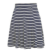 Buy Fat Face Banbury Stripe Jersey Skirt, Navy Online at johnlewis.com