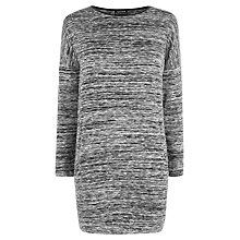 Buy Warehouse PU Trim Marl Tunic Top, Light Grey Online at johnlewis.com