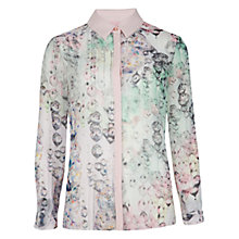 Buy Ted Baker Crystal Droplet Print Shirt, Nude Pink Online at johnlewis.com
