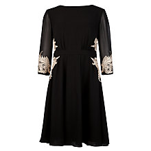 Buy Ted Baker Embroidered Detail Dress, Black Online at johnlewis.com