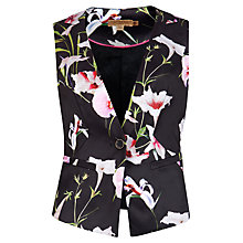 Buy Ted Baker Onixw Mirrored Tropics Waistcoat, Black Online at johnlewis.com