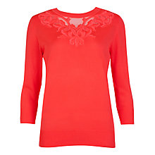 Buy Ted Baker Fabina Embroidered Jumper, Coral Online at johnlewis.com