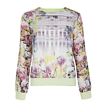 Buy Ted Baker Window Floral Blossom Print Jumper, Light Purple Online at johnlewis.com