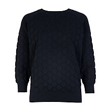 Buy Ted Baker Maida Quilted Jumper, Black Online at johnlewis.com