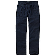 Buy Fat Face Tencel Trousers, Navy Online at johnlewis.com