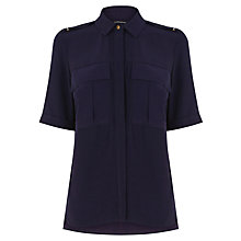 Buy Warehouse Military Shirt, Midnight Online at johnlewis.com