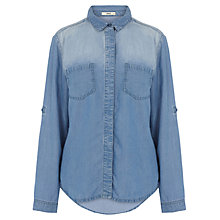 Buy Oasis Tori Tencel Shirt, Denim Online at johnlewis.com