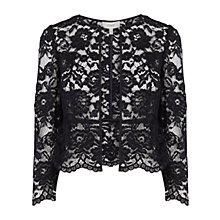 Buy Coast Amelia Lace Jacket, Navy Online at johnlewis.com