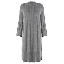 Buy Warehouse Wide Rib Tunic Dress, Dark Grey Online at johnlewis.com
