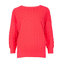 Buy Ted Baker Maida Quilted Jumper, Orange Online at johnlewis.com