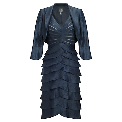 Adrianna Papell Shutter Pleated Dress With Jacket