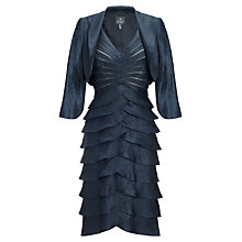 Buy Adrianna Papell Shutter Pleated Dress With Jacket, Eclipse Online at johnlewis.com