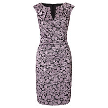 Buy Adrianna Papell Jacquard Floral Wrap Dress, Dusty Pink Online at johnlewis.com