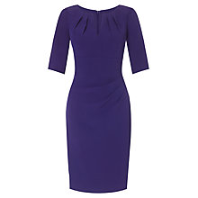 Buy Adrianna Papell Pleat Sheath Dress, Dark Purple Online at johnlewis.com
