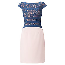 Buy Adrianna Papell Lace and Bandage Sheath Dress, Dusk Online at johnlewis.com