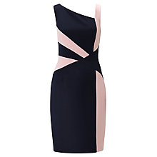 Buy Adrianna Papell Colourblock Spliced Sheath Dress, Dusk Online at johnlewis.com