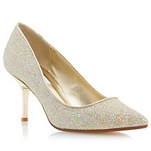 Buy Dune Brill Stiletto Occasion Court Shoes, Champagne Online at johnlewis.com