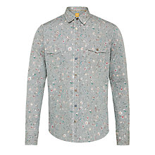 Buy BOSS Orange Edaslim Floral Print Shirt, Black/Red Online at johnlewis.com