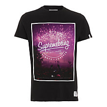 Buy Supremebeing Festival Print T-Shirt, Black Online at johnlewis.com