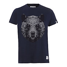 Buy Supremebeing Bear Print T-Shirt, Navy Online at johnlewis.com