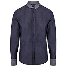 Buy BOSS Orange Edipoe Chambray Shirt, Navy Online at johnlewis.com