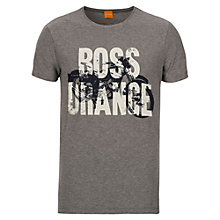 Buy BOSS Orange Theroux Bike T-Shirt, Grey Online at johnlewis.com