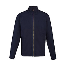 Buy BOSS Orange Zcott Zip Jersey Top Jacket, Navy Online at johnlewis.com